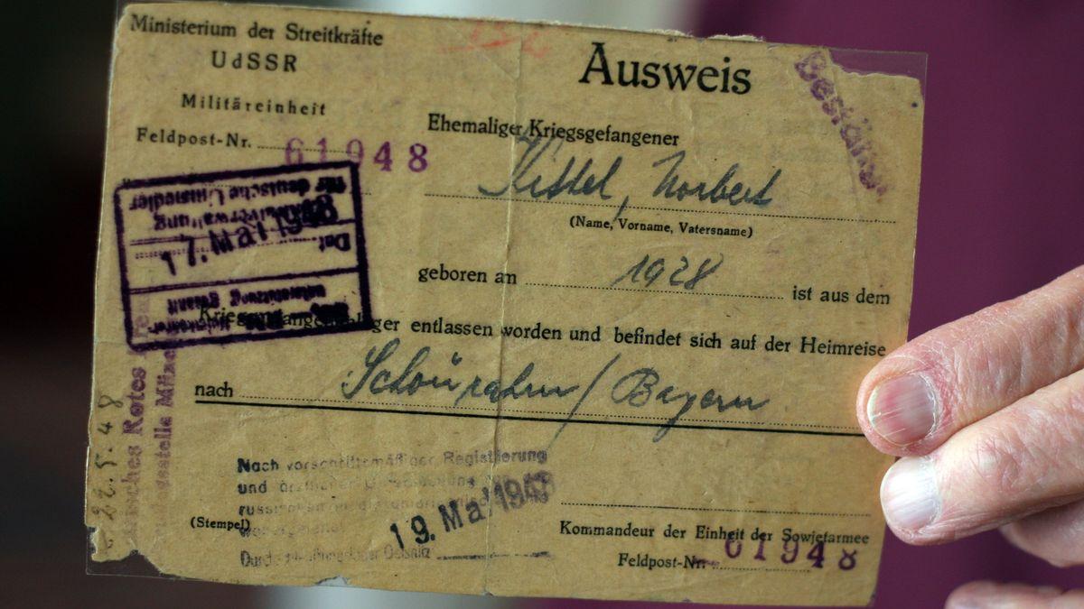 Der Ausweis von Norbert Kittel aus Kriegsgefangener.