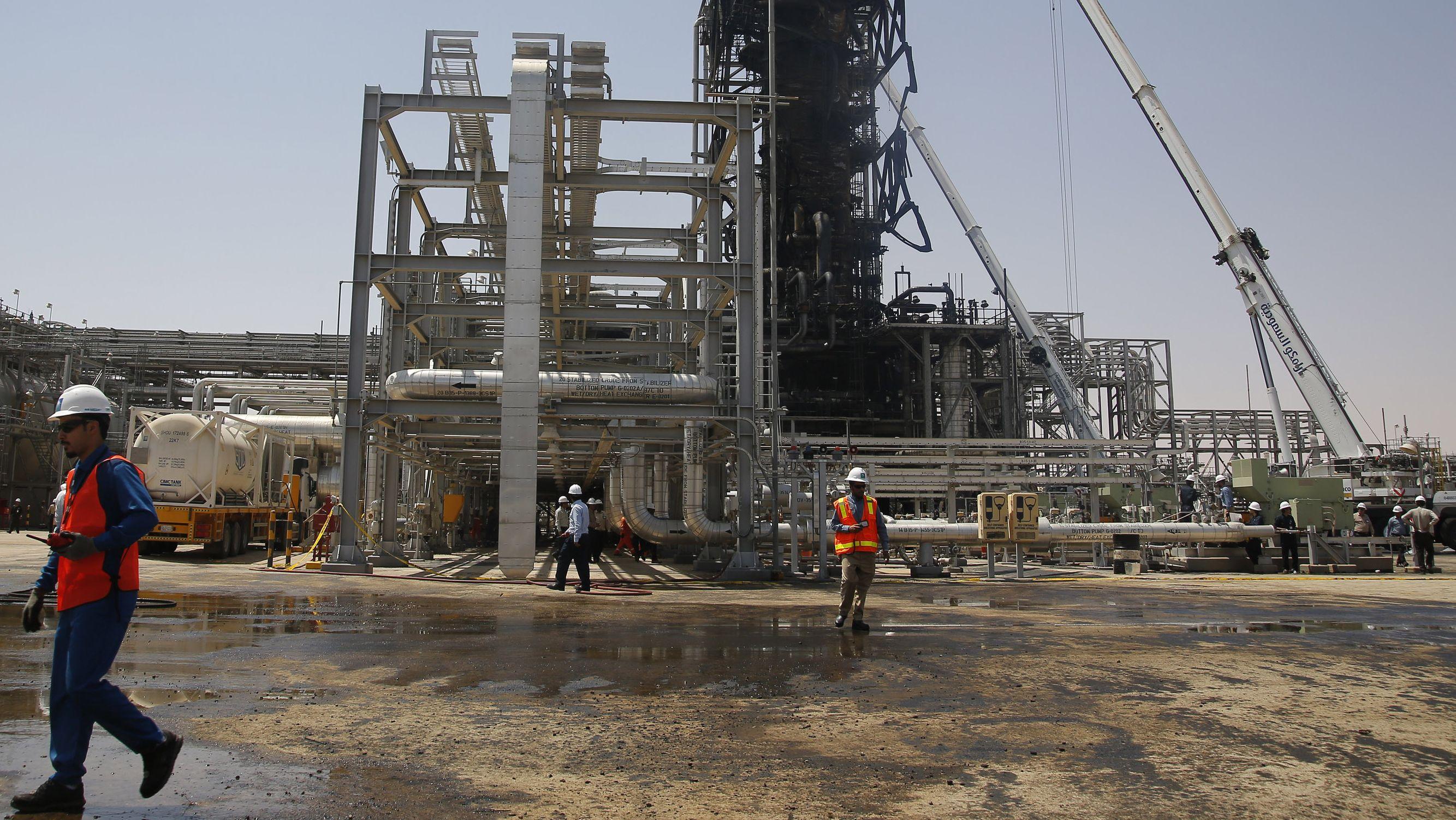 Bombardierte saudische Ölanlage