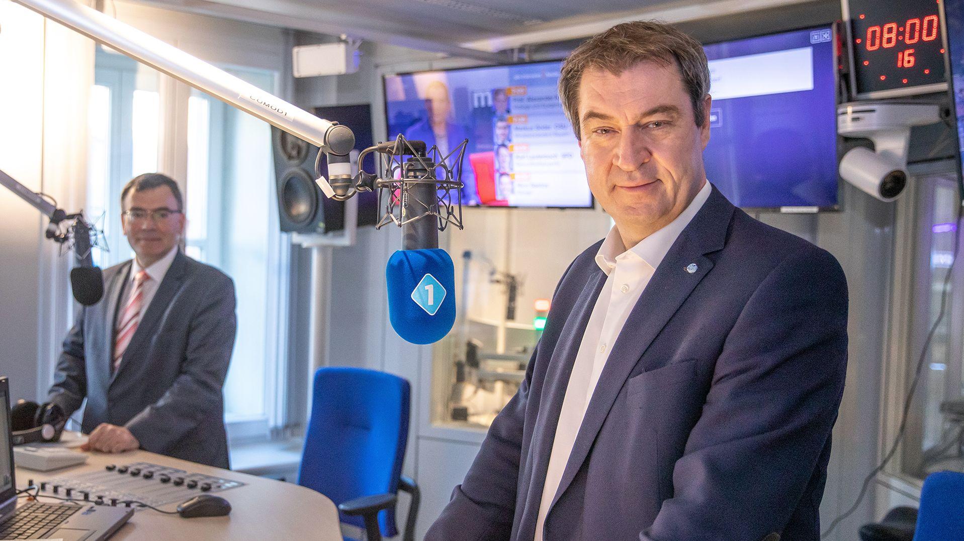 Ministerpräsident Söder und Staatskanzleichef Herrmann