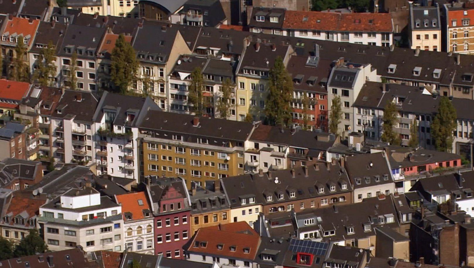 Stadtansicht mit Mietshäusern