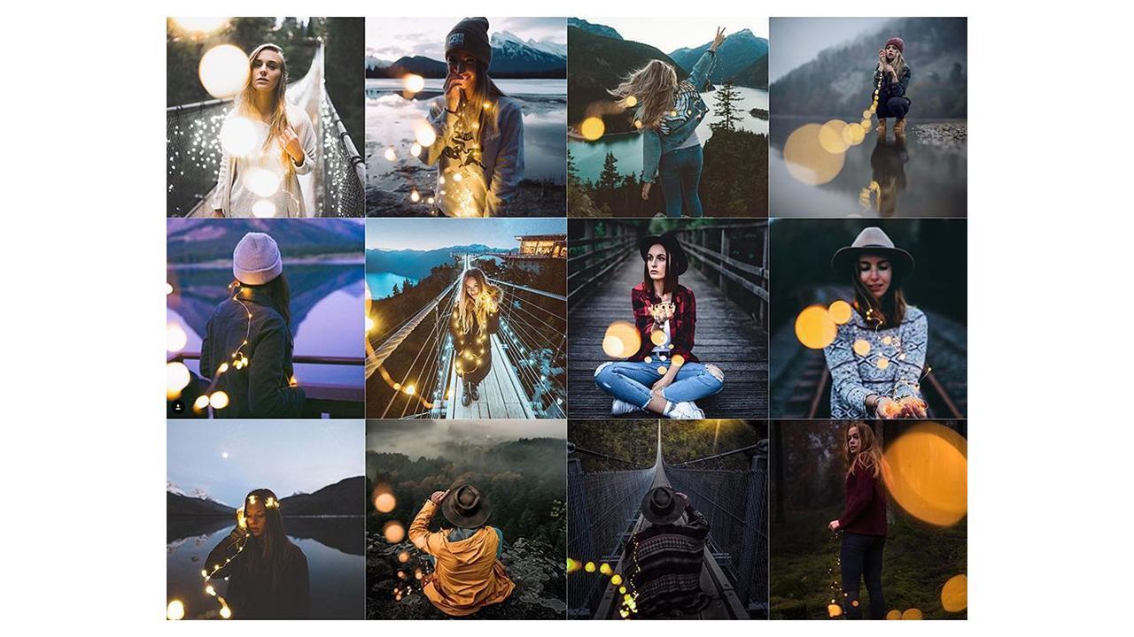Lichterketten auf Instagram