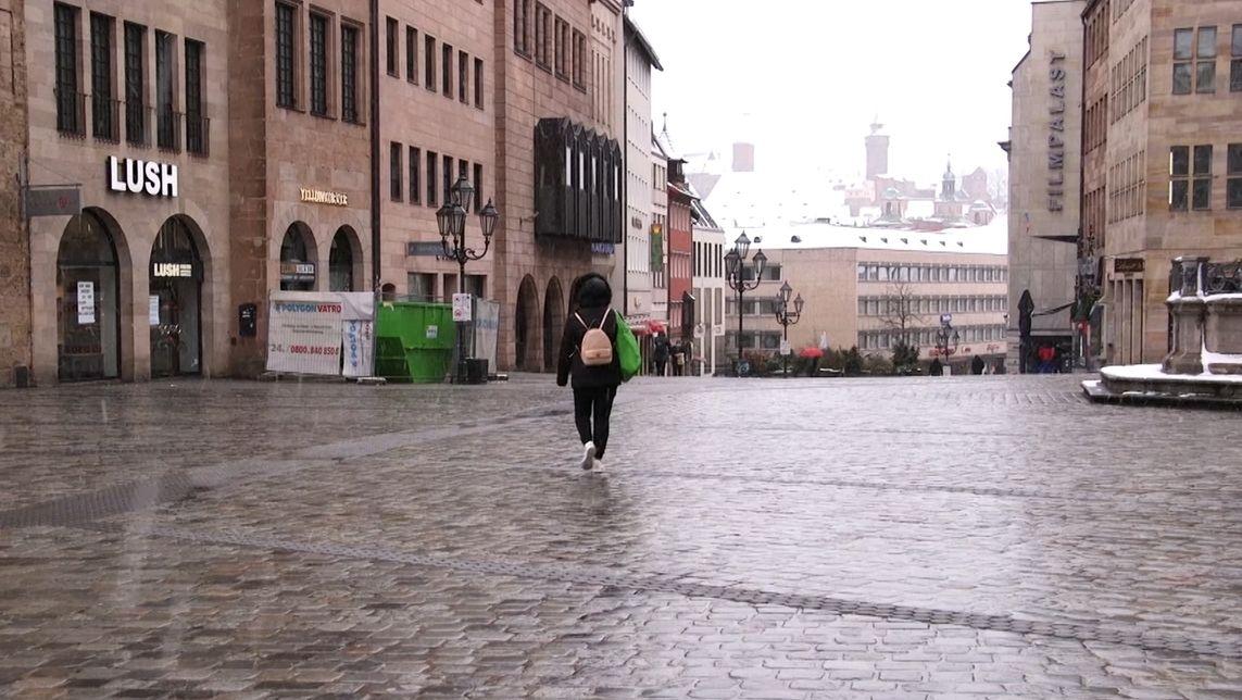 Leergefegte Nürnberger Innenstadt