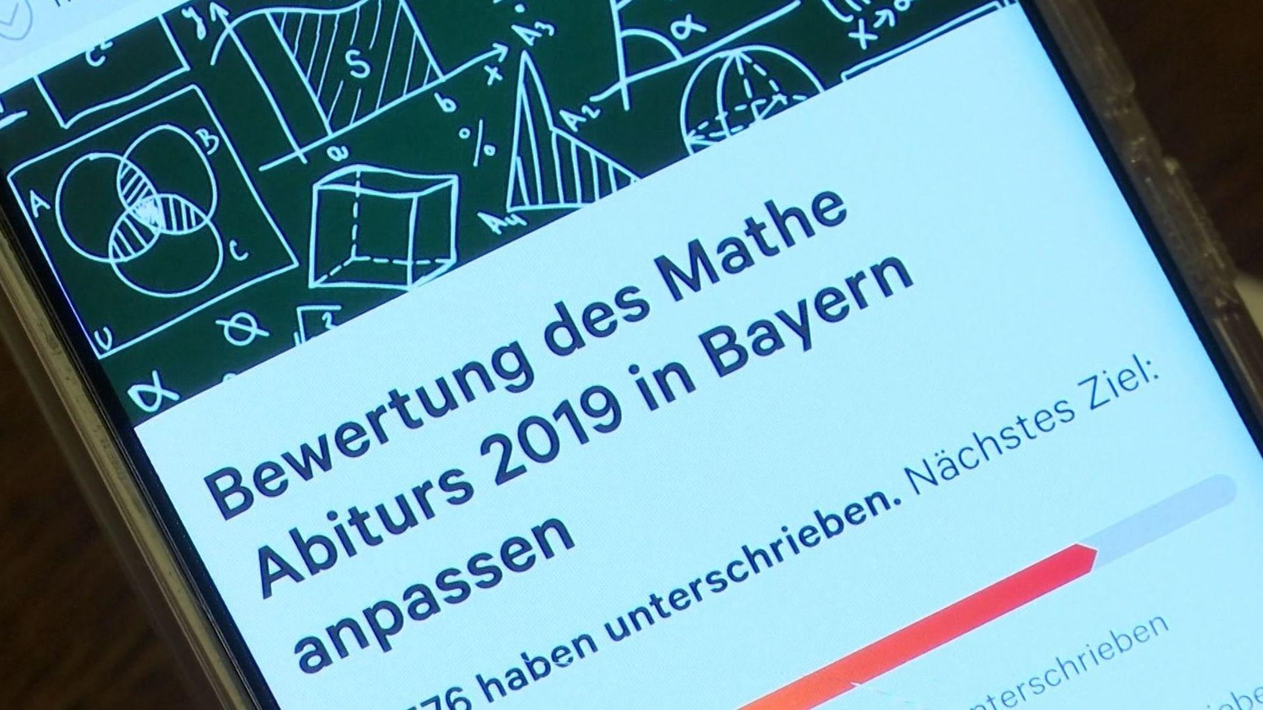 Petition zur Anpassung der Bewertung des Mathe-Abis 2019 in Bayern