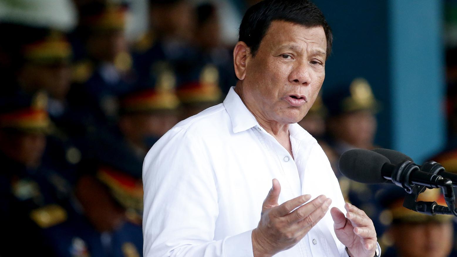 Rodrigo Duterte, Präsident der Philippinen,