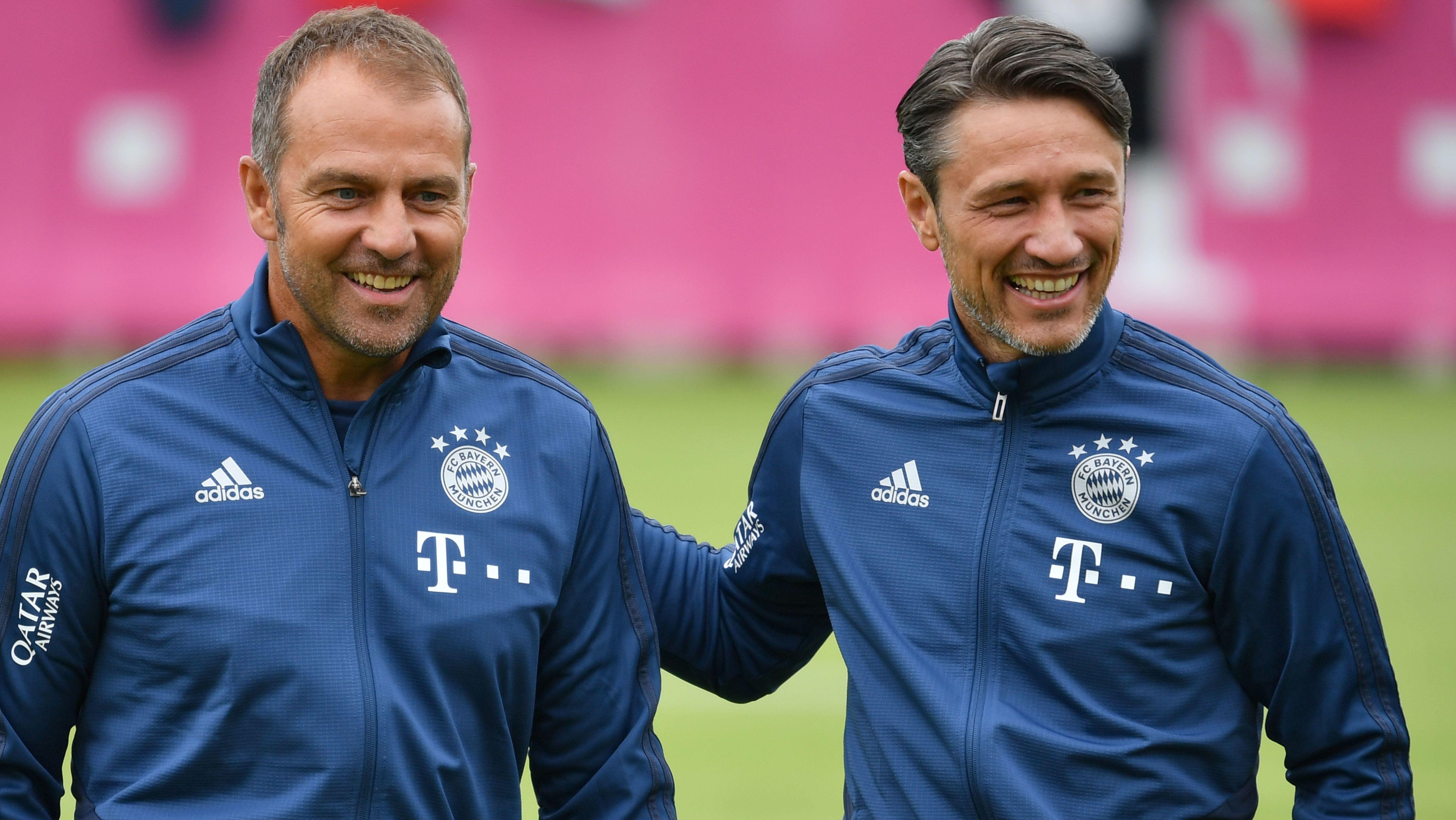 Niko Kovac und Hans Dieter Flick auf dem Spielfeld