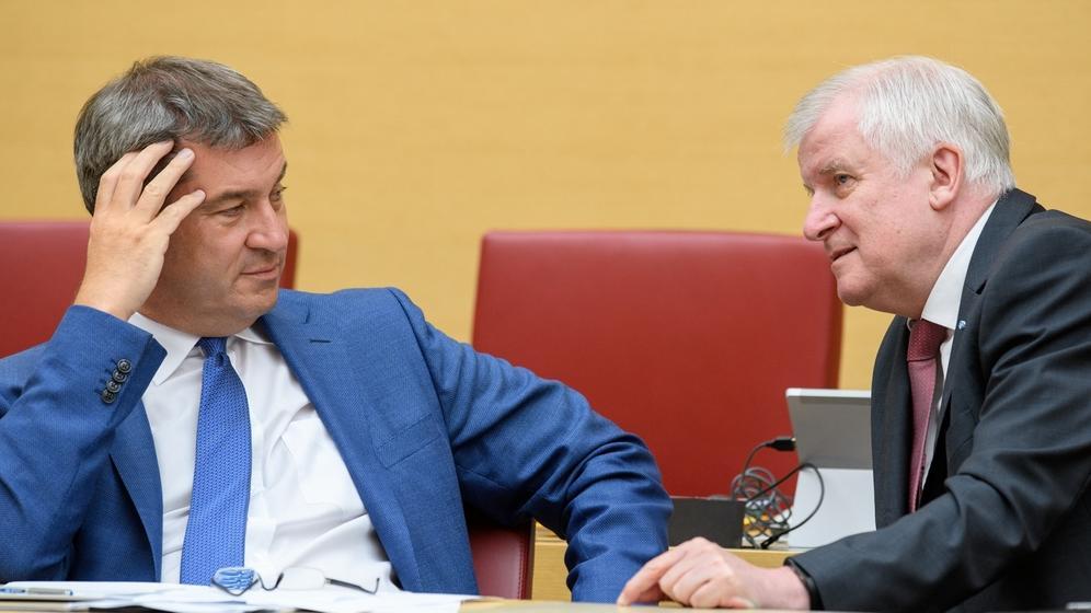 Markus Söder (links), Horst Seehofer | Bild:picture-alliance/dpa