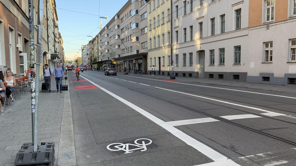 Münchens Fraunhoferstraße