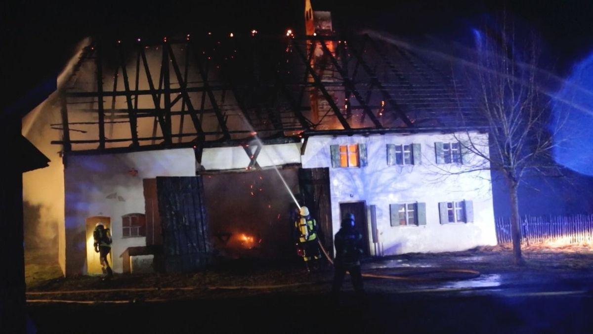 Brand im Bauernhofmuseum Illerbeuren