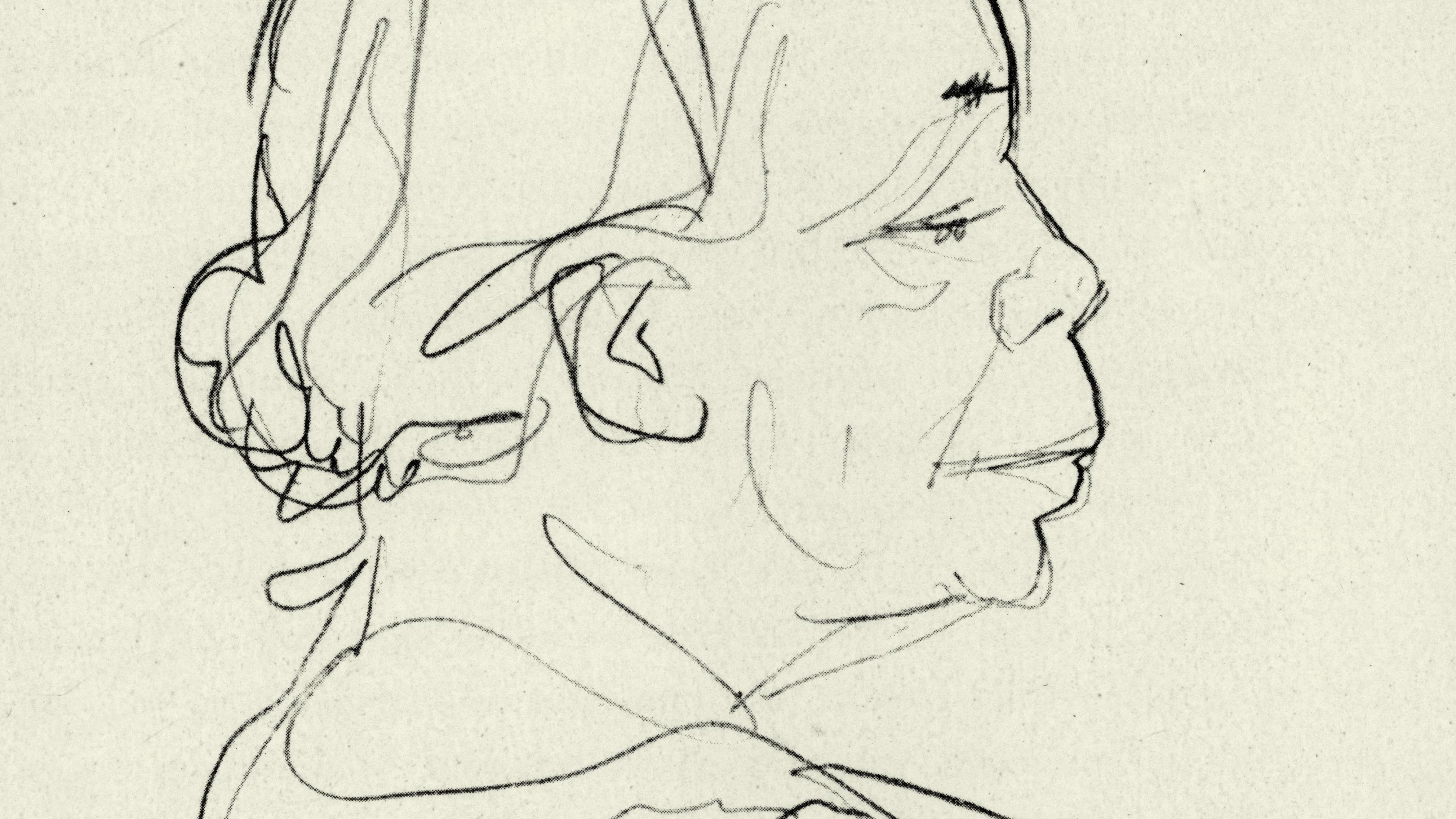 Benedikt Dolbin, Porträtzeichnung von Käthe Kollwitz, ca. 1935