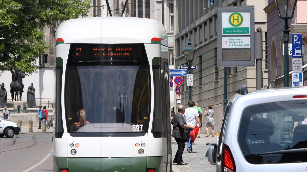 Straßenbahn in Augsburg