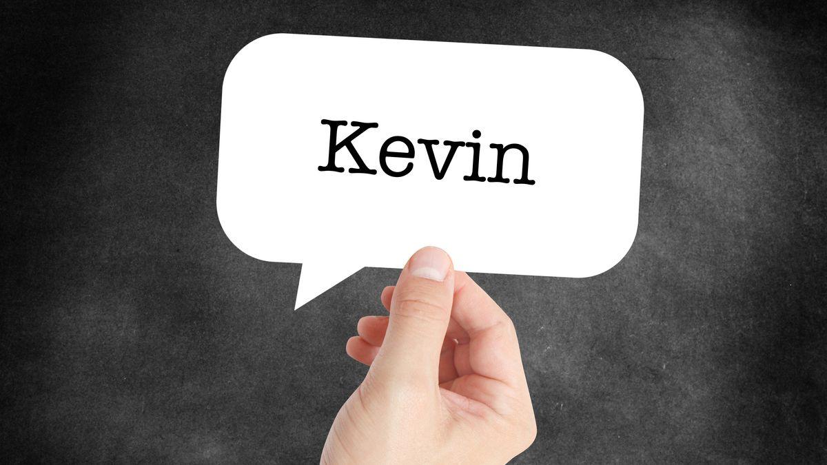 Vorname Kevin auf einer Sprechblase