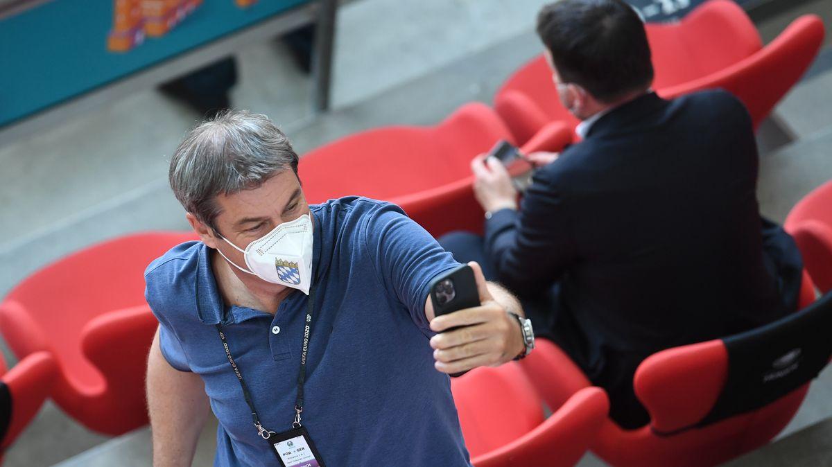 CSU-Chef Söder in der Münchner Fußball-Arena