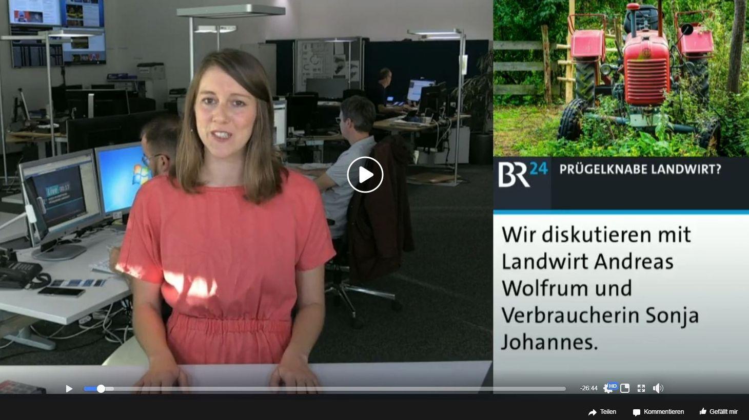"""BR24-Debattator mit Karen Bauer:  """"Stellt euch mal Bayern ohne Landwirte vor"""""""
