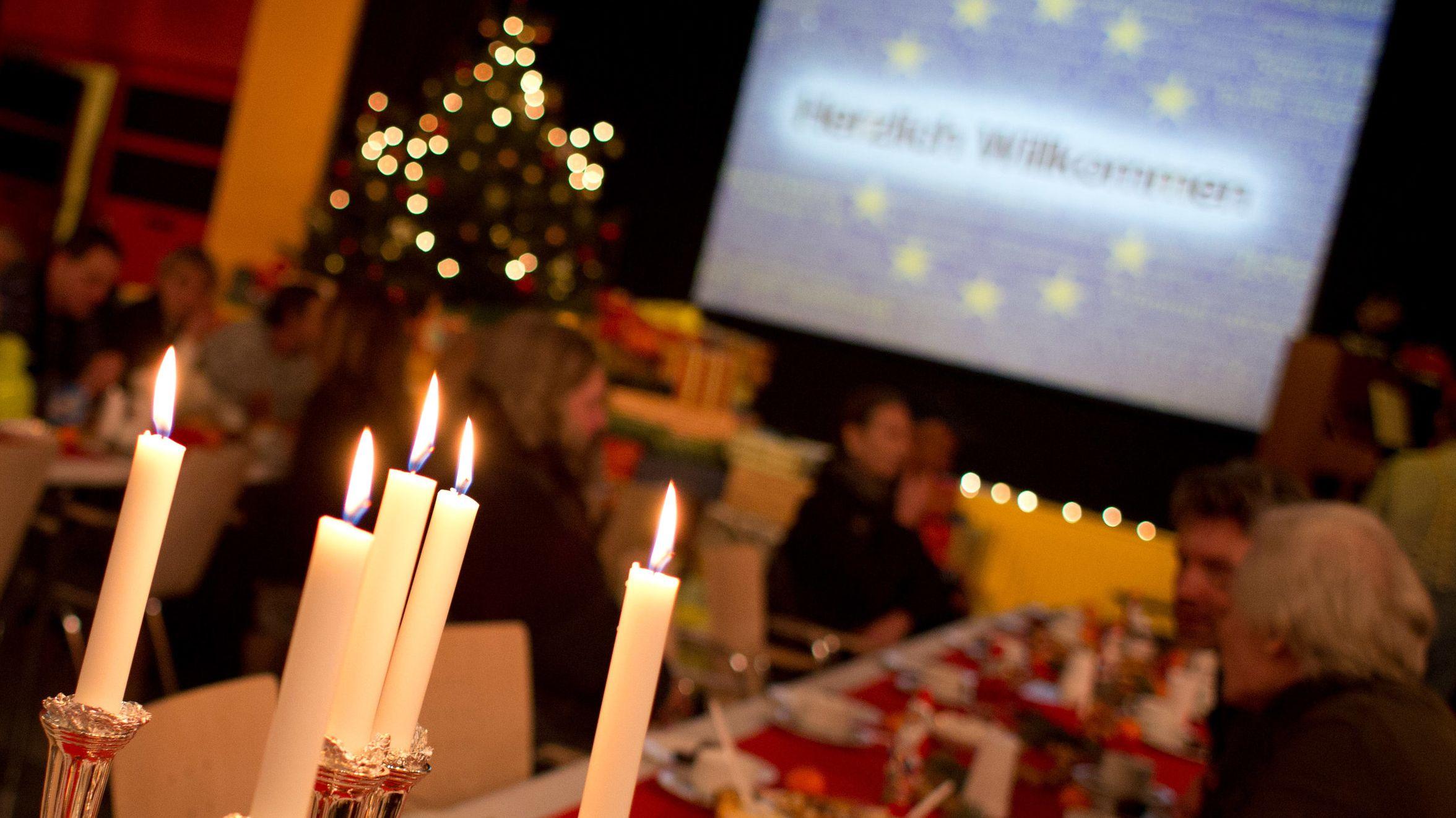 Weihnachtsfeier in einer Stadtmission (Symbolbild)