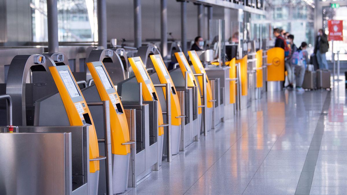 Check-In am Münchner Flughafen