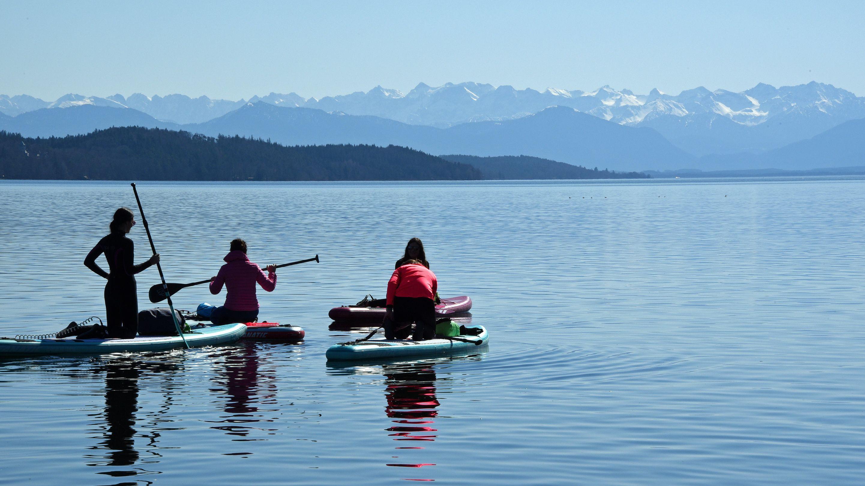 Wassersportler am Starnberger See