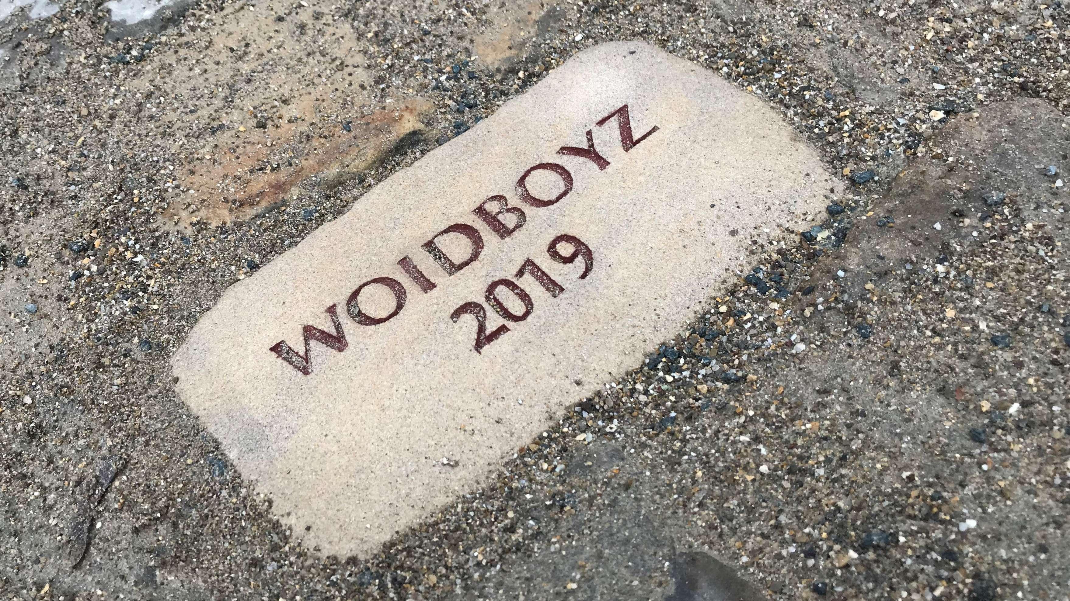 Der Woidboyz-Stein in Dinkelsbühl