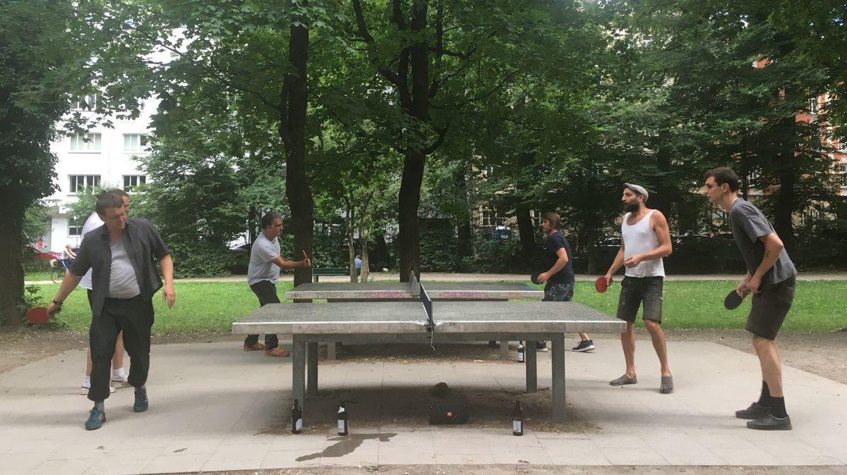 Tischtennis in den Isarauen