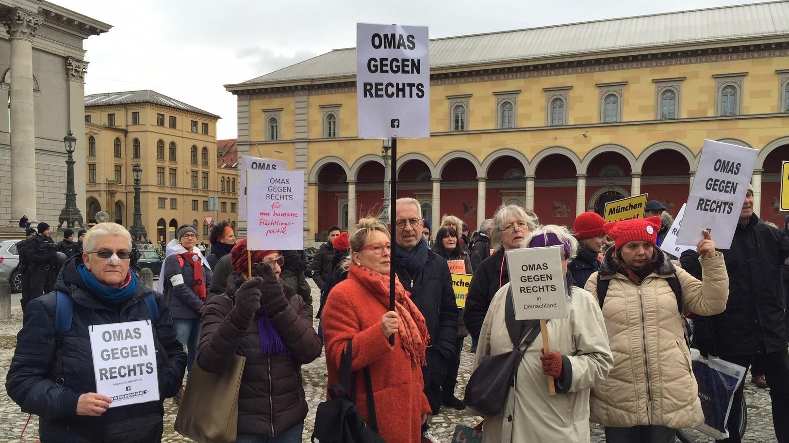 Demo für Menschenrechte und Demokratie am 8.12.2018 in München.