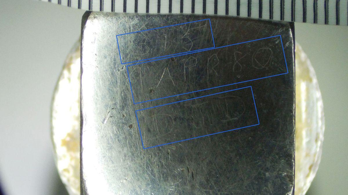 Gravur Ratsche Stirnseite Außenvierkant 3 5 und 9 APR 80 und DJD