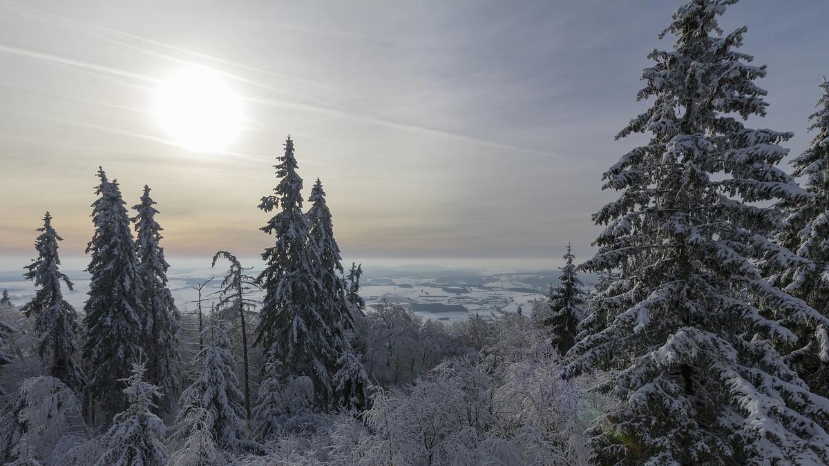Traumhafte weiße Weihnachten im Frankenwald