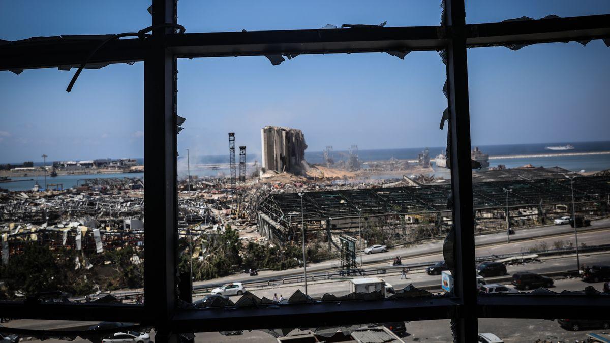 Beiruts Hafen am Tag nach der Explosion