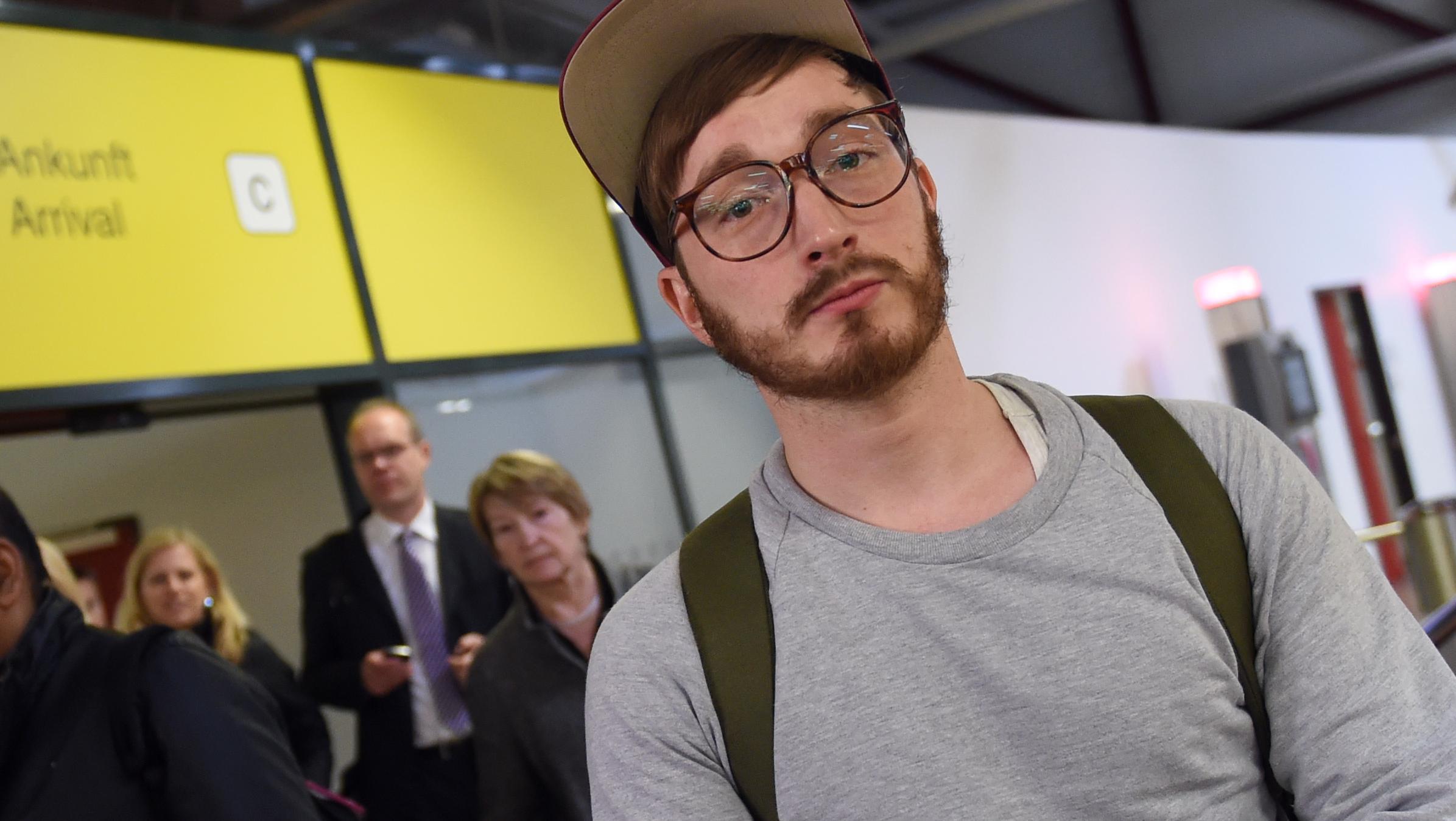 Jörg Albrecht im Flughafen Tegel