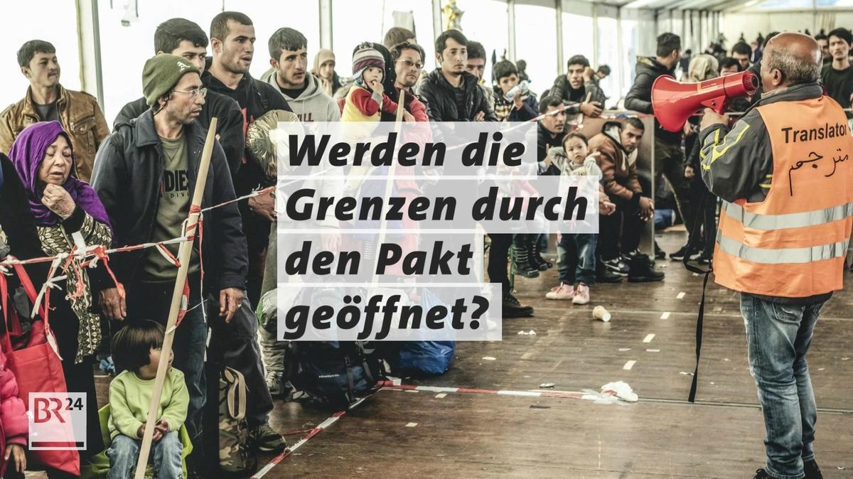 Menschen an Grenze