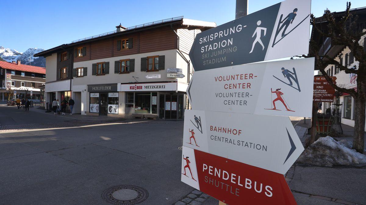 Wintersport-Ort Oberstdorf