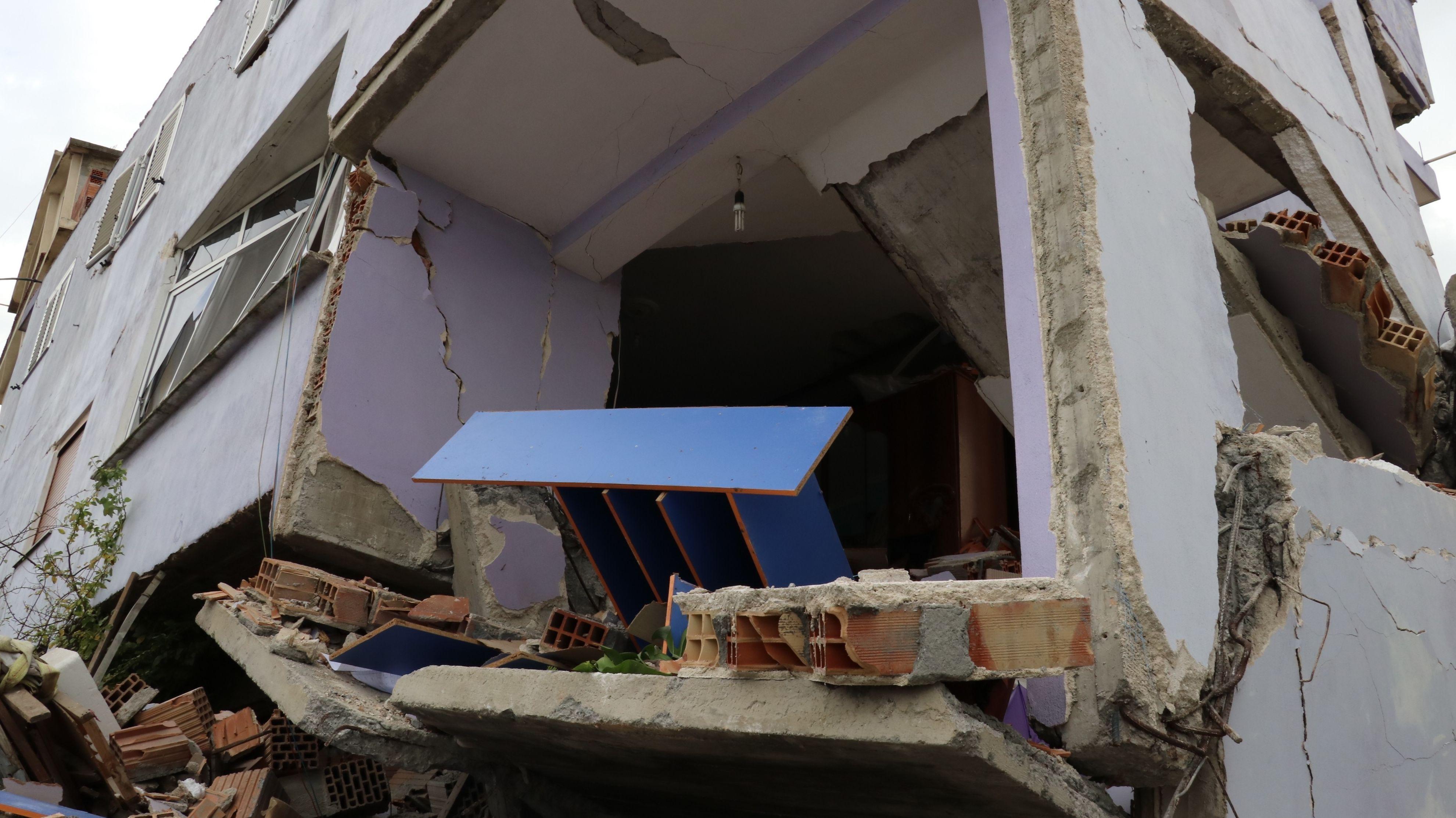 Viele Häuser wurden bei dem Erdbeben zerstört