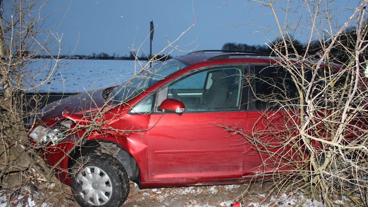 Das Fahrzeug nach dem Unfall