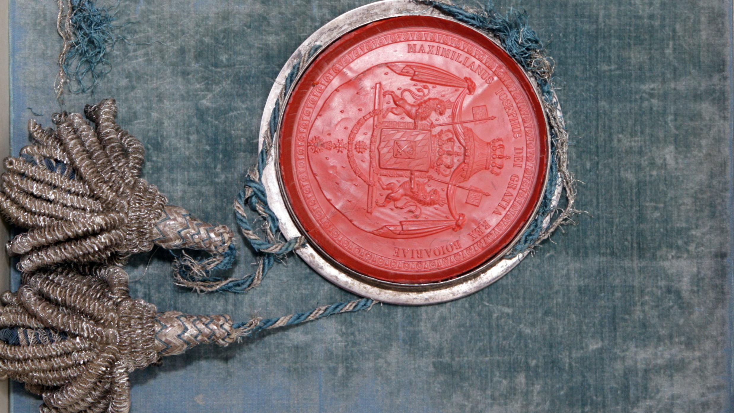 Das handschriftliche Original der Verfassung von 1818