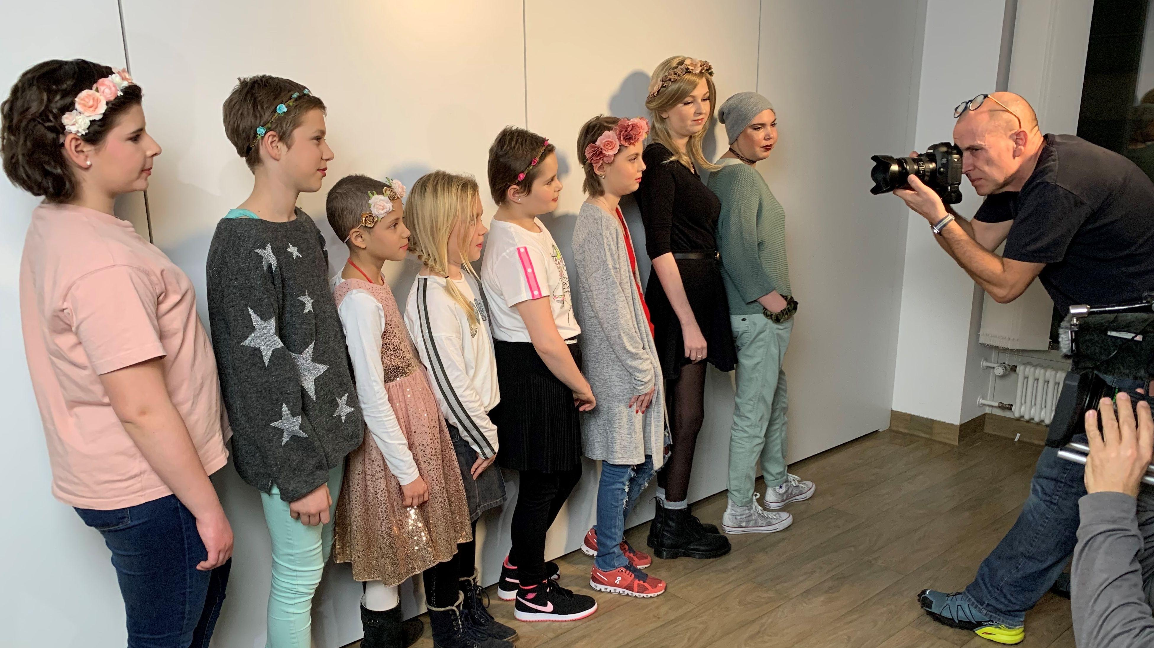 Fotoshooting mit kranken Kindern
