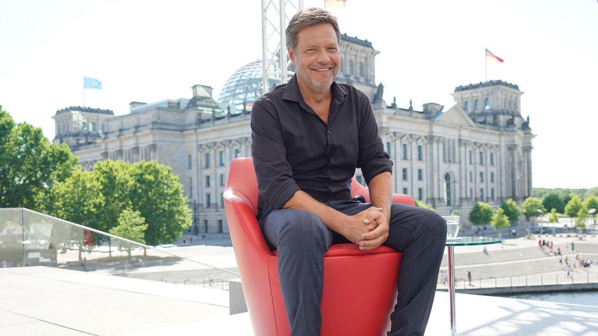 Grünen-Chef Robert Habeck im Sommerinterview mit der ARD