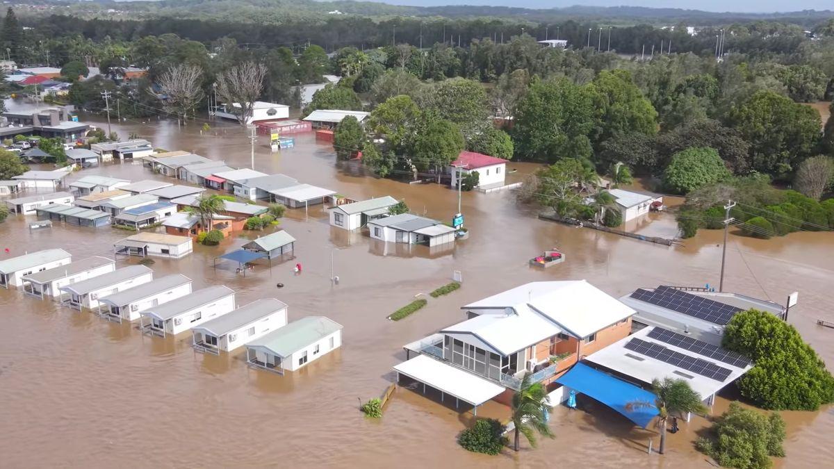Nach schweren Regenfällen sind große Teile des australischen Staats New South Wales überschwemmt.