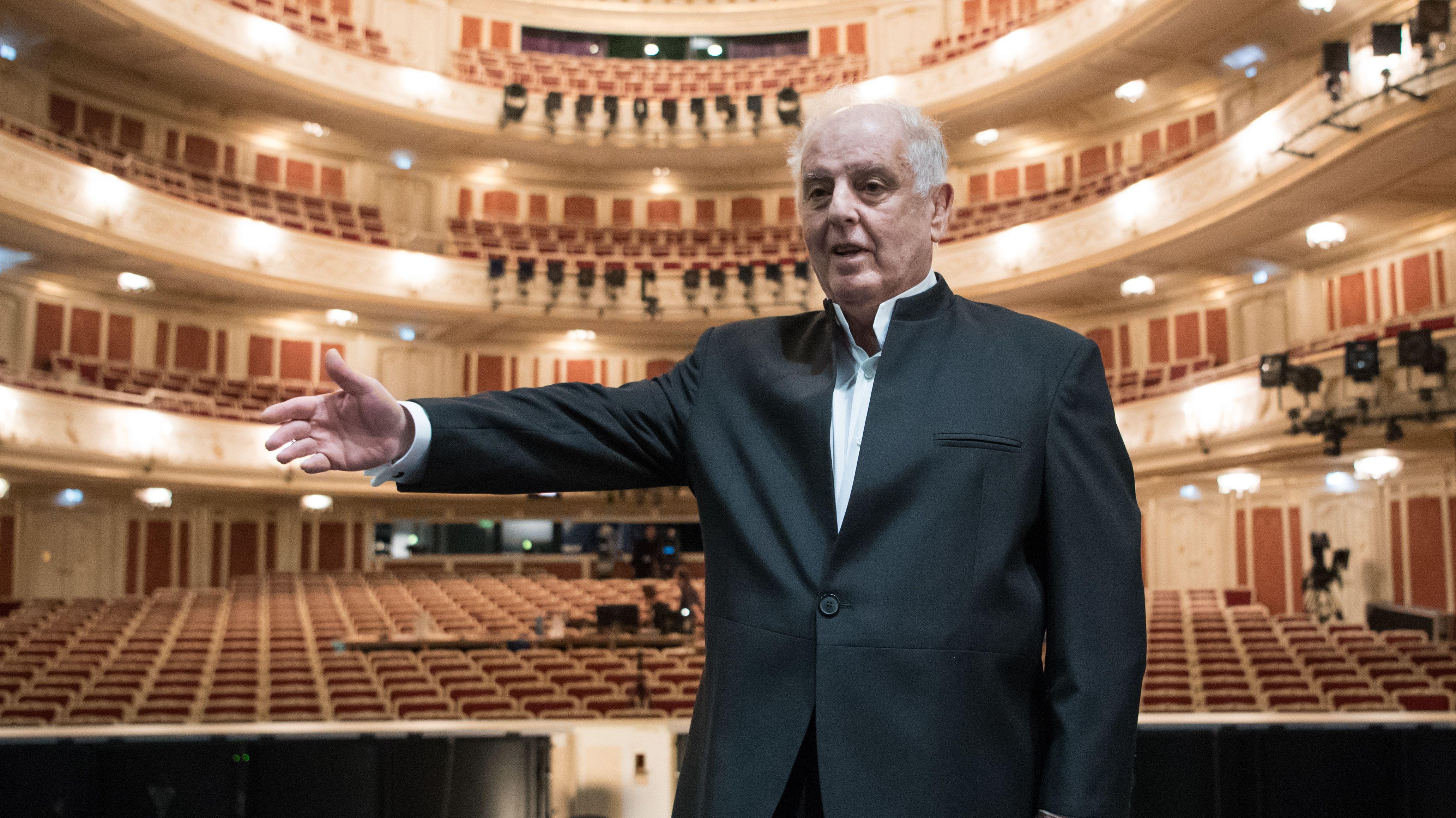 Dirigent Daniel Barenboim in der Berliner Staatsoper
