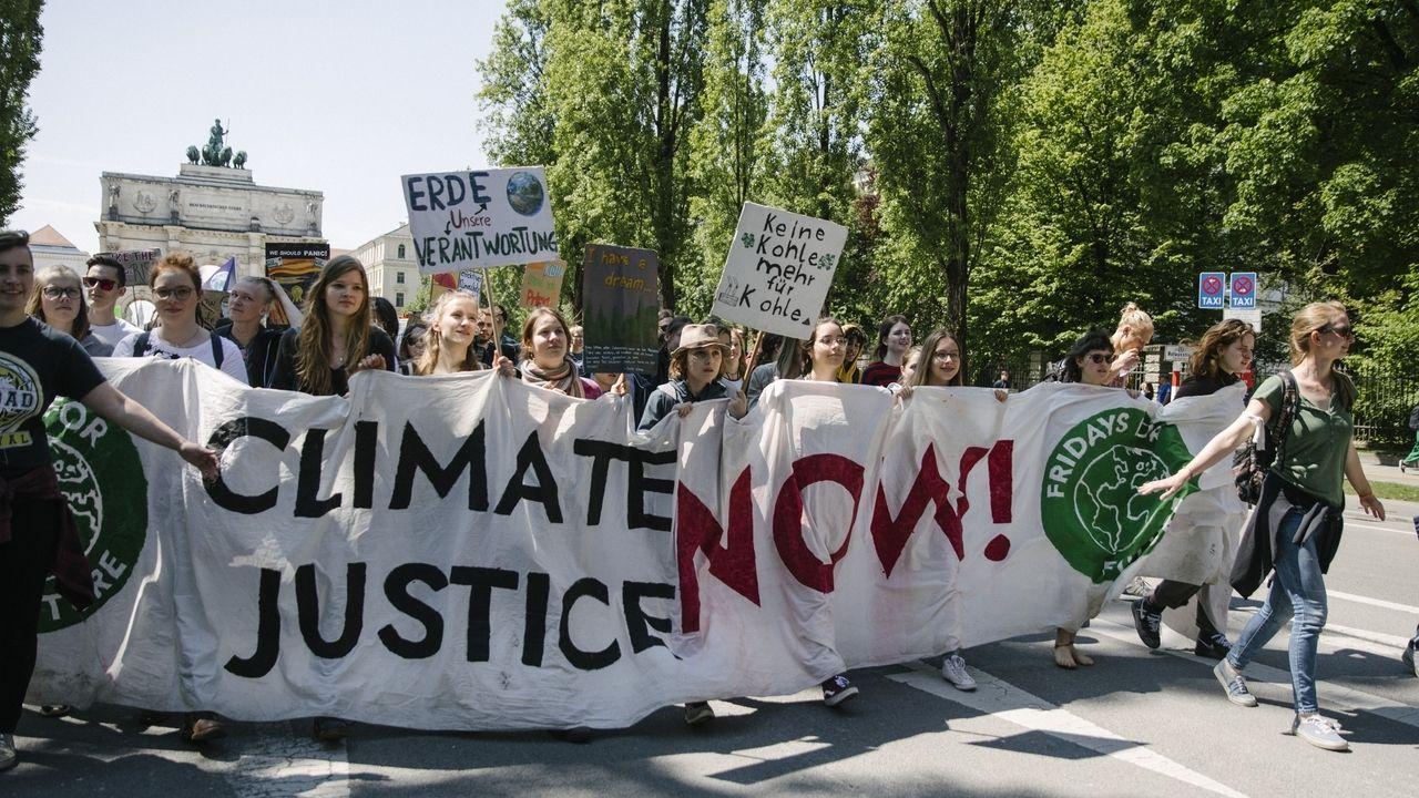 Impressionen der fridays for future Demonstration am 17.05.2019 in München.