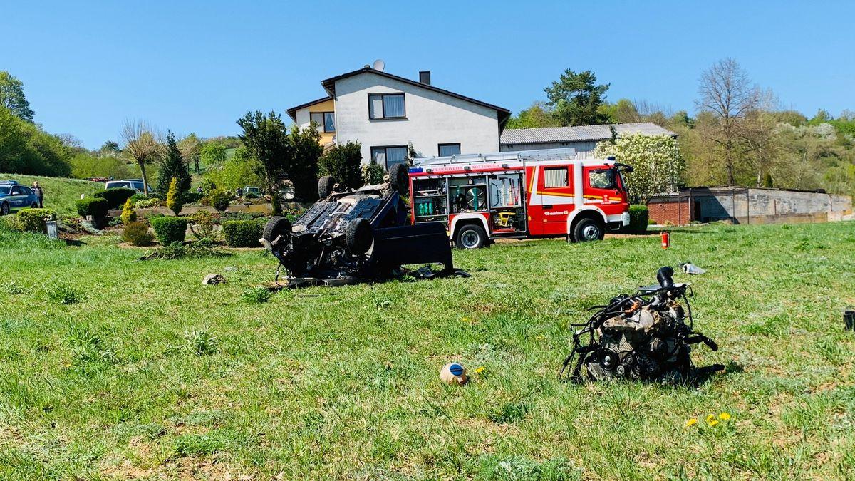Schwerer Unfall in Röttingen.