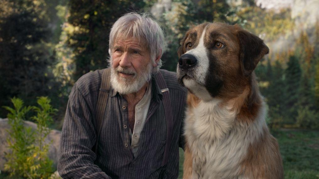 """Harrison Ford und sein computeranimierter Freund in """"Ruf der Wildnis"""" (Filmszene)"""
