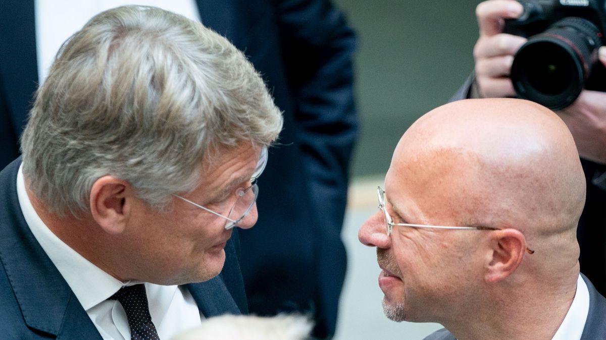 Jörg Meuthen und Andreas Kalbitz im September 2019.
