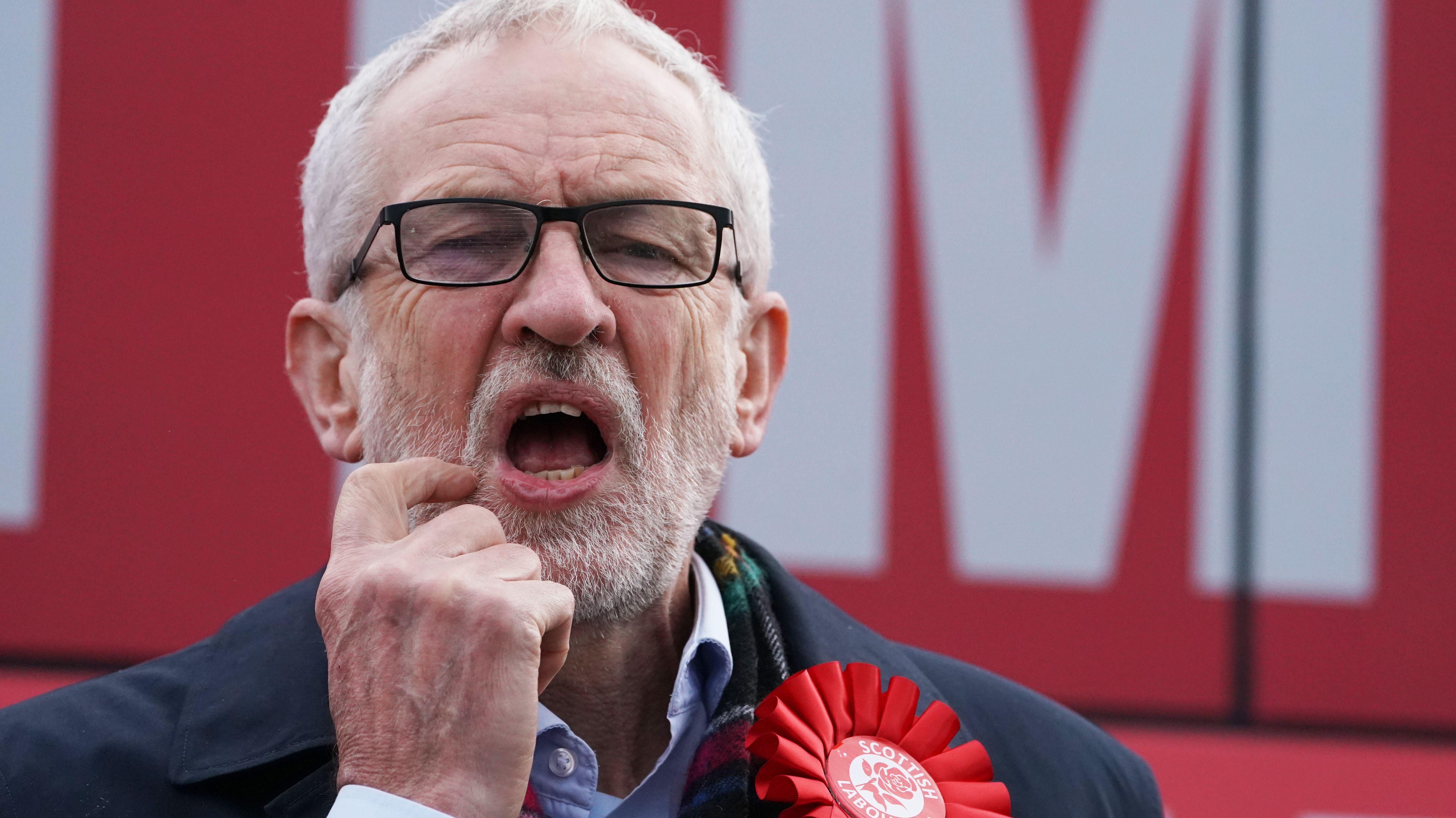 Jeremy Corbyn bei einer Wahlkampfveranstaltung