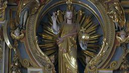 Jesusfigur in der St. Michaelskirche München | Bild:BR