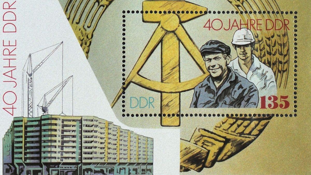 Briefmarke: 40 Jahre DDR