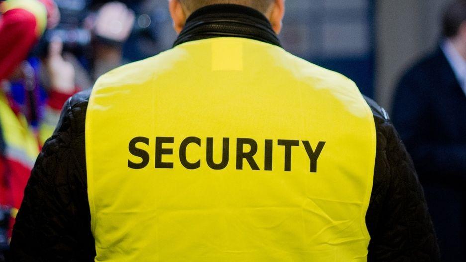 """Eine Weste mit der Aufschrift Security"""""""
