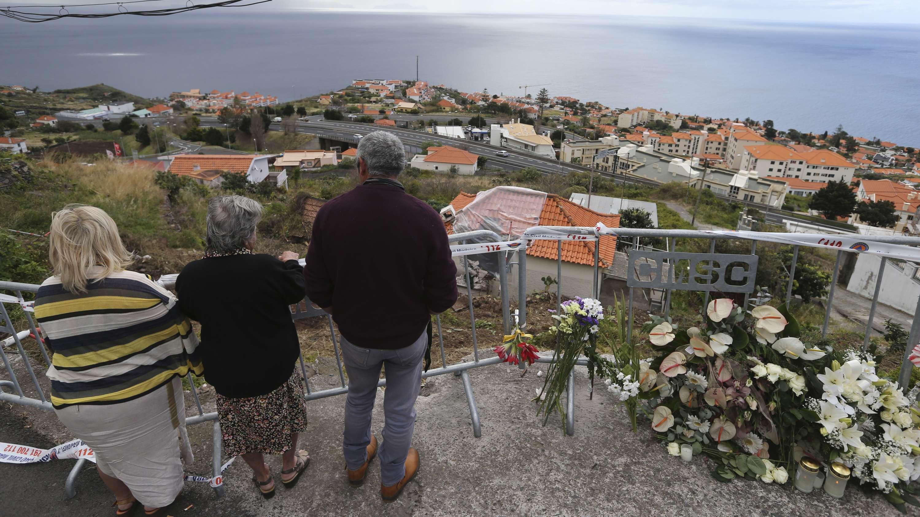 Unglücksstelle des Busunglücks auf Madeira
