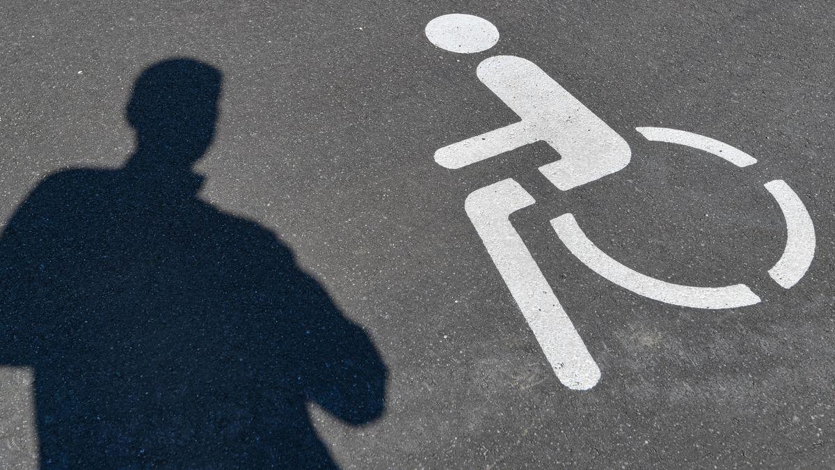 Piktogramm für einen Behindertenparkplatz