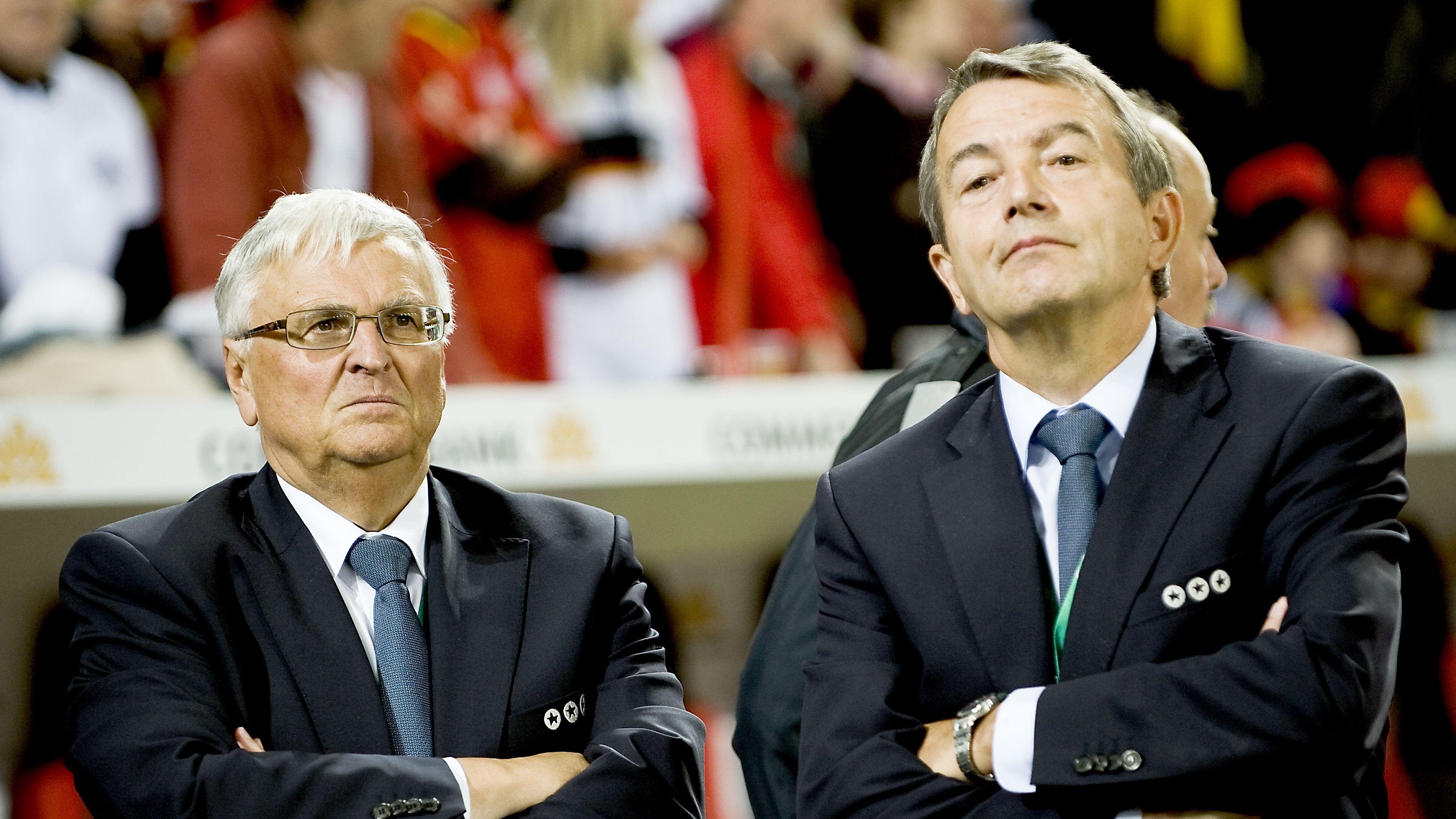 Die früheren DFB-Präsidenten Theo Zwanziger (links) und Wolfgang Niersbach