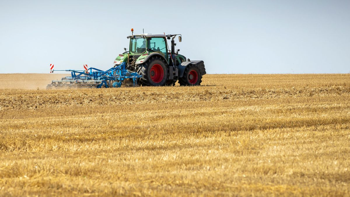 Ein Traktor auf einem Feld (Symbolfoto)