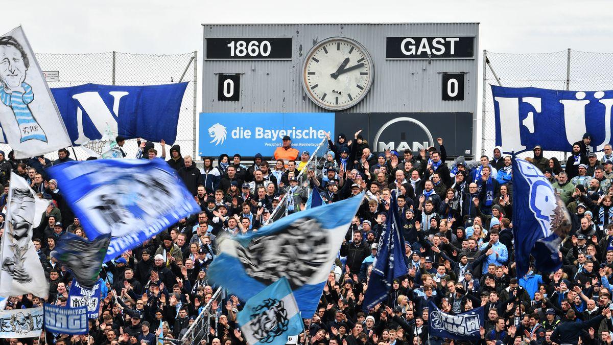 1860-Fankurve im Grünwalder Stadion