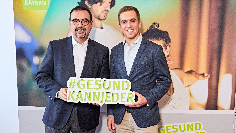 Der BHV Vorsitzende Klaus Holetschek (l.) mit Philipp Lahm